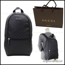 GUCCI Monogram Nylon A4 Backpacks