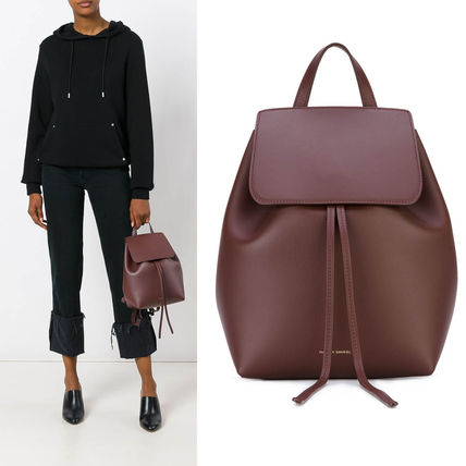MANSUR GAVRIEL 2WAY Plain Leather Backpacks