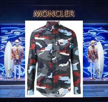 MONCLER MONCLER GAMME BLEU Camouflage Long Sleeves Cotton Shirts