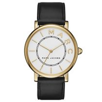 Marc by Marc Jacobs Casual Style Unisex Leather Round Quartz Watches