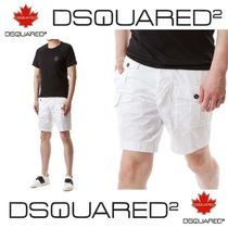 D SQUARED2 Plain Cotton Cargo Shorts