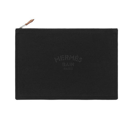 HERMES / Yachting GM / flat Pouch / Black /Japan tag Japan