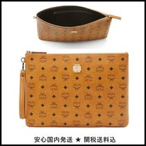 MCM Monogram Unisex 2WAY PVC Clothing Clutches