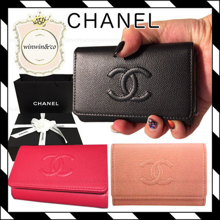CHANEL Calfskin Plain Keychains & Bag Charms