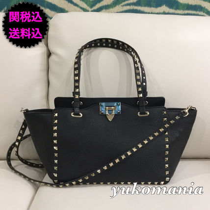 Rock studded Small tote Glen calf