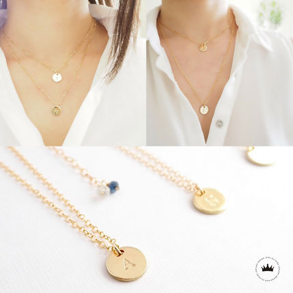 Casual Style Initial 14K Gold Necklaces & Pendants