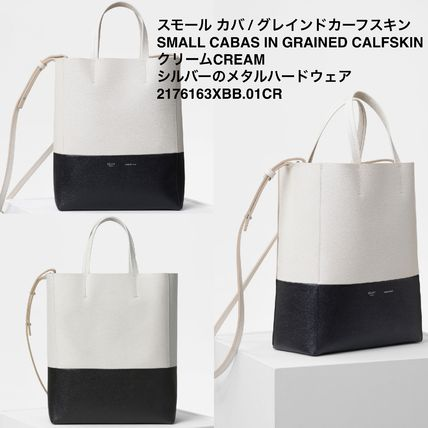 3d81a24f712c CELINE Cabas 2018-19AW Casual Style A4 2WAY Plain Leather Totes by ...