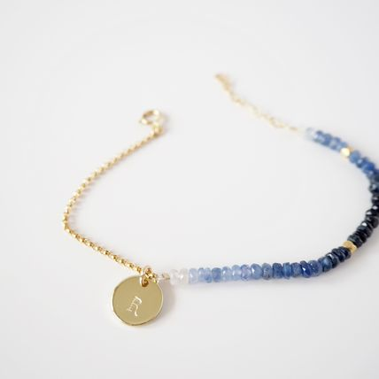 Casual Style Initial Chain Handmade 14K Gold Bracelets