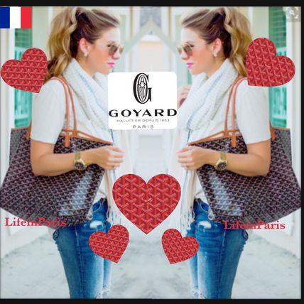 GOYARD Paris head office St. Louis PM black Tan Black