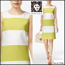 Anne Klein Stripes Tight Sleeveless Medium Party Dresses