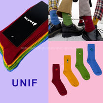UNIF Clothing Unisex Plain Cotton Socks & Tights