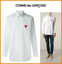 COMME des GARCONS Heart Long Sleeves Cotton Shirts