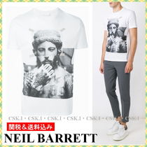 NeIL Barrett Crew Neck Cotton Short Sleeves Crew Neck T-Shirts