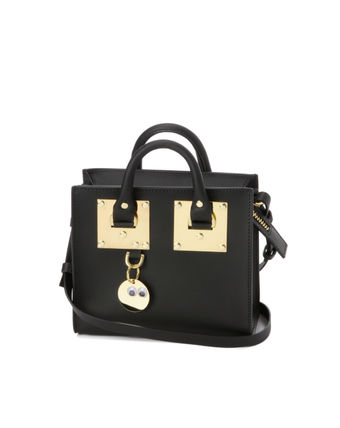SOPHIE HULME with strap tote bag black ALBION BOX
