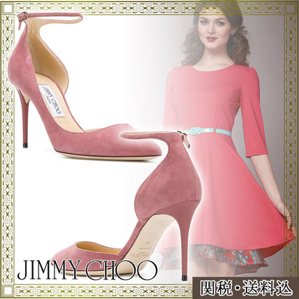 And JIMMY CHOO Lucy ankle strap