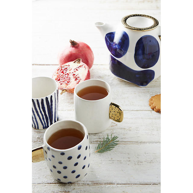 Anthropologie Cups & Mugs free wrapping and stylish teapots deformation Dots 3