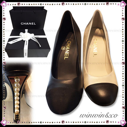 17 AW's CHANEL part her by color pumps *