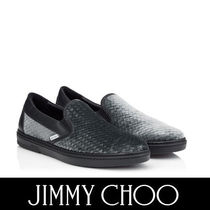 Jimmy Choo Plain Toe Velvet Street Style Plain Loafers & Slip-ons