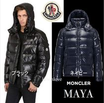 MONCLER MAYA Short Unisex Plain Down Jackets