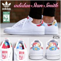 adidas STAN SMITH Rubber Sole Collaboration Plain Low-Top Sneakers