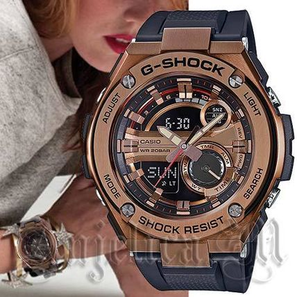 Casual Style Unisex Silicon Round Digital Watches