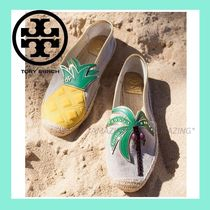 Tory Burch Tropical Patterns Platform Round Toe Casual Style