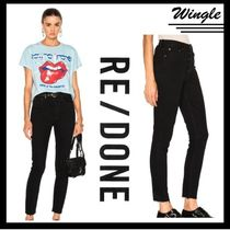 RE DONE Plain Cotton Skinny Jeans