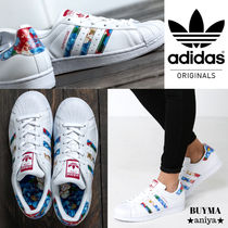adidas SUPERSTAR Flower Patterns Rubber Sole Collaboration Leather