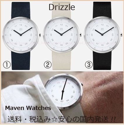 Unisex Leather Round Quartz Watches Analog Watches