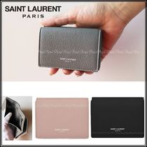 Saint Laurent Plain Folding Wallets