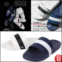 Ron Herman Stripes Leather Shower Shoes Shower Sandals