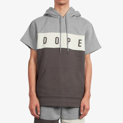 DOPE couture Hoodies Pullovers Street Style Plain Cotton Short Sleeves Hoodies