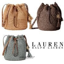 Ralph Lauren Casual Style 2WAY Plain Straw Bags