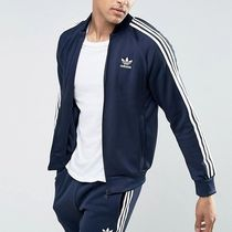 adidas SUPERSTAR Stripes Street Style Plain Track Jackets