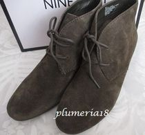 Nine West Wedge Suede Plain Wedge Boots