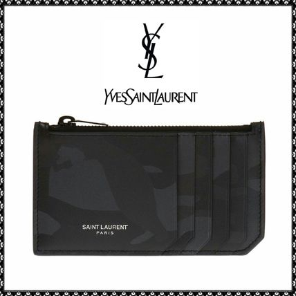 Saint Laurent Leather Card Holders