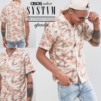 SALE Systvm short sleeve printed t-shirt and camouflage