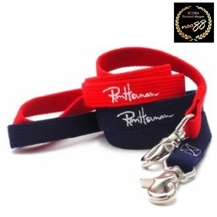 Dog Lead Collar Red Navy