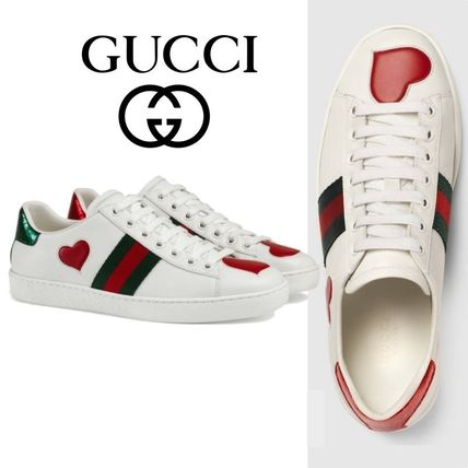 Ace Heart Leather Patchy Sneaker