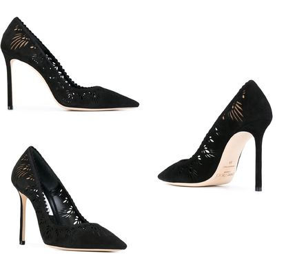 Jimmy Choo Leather Pin Heels Elegant Style Stiletto Pumps & Mules