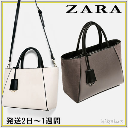ZARA with strap tote bags shipping