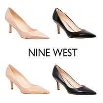 Nine West Plain Leather Pin Heels Office Style