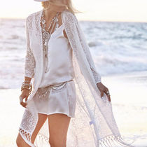 Casual Style Long Lace Gowns Cardigans