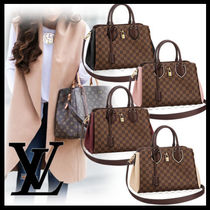 Louis Vuitton DAMIER Other Check Patterns Casual Style 2WAY Leather Bold