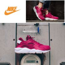 Nike AIR HUARACHE Casual Style Faux Fur Plain Low-Top Sneakers