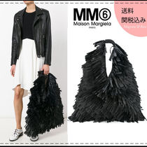 MM6 Maison Margiela Casual Style A4 Plain Fringes Straw Bags