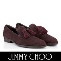 Jimmy Choo Plain Toe Suede Tassel Plain Loafers & Slip-ons