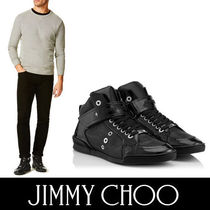 Jimmy Choo Mountain Boots Enamel Plain Sneakers
