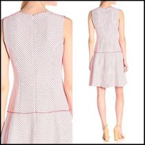 Anne Klein Short Dots Sleeveless Flared Party Dresses