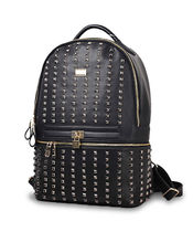 REASON Casual Style Faux Fur Studded A4 Plain Backpacks